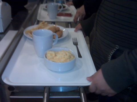 A cafeteria line at IKEA