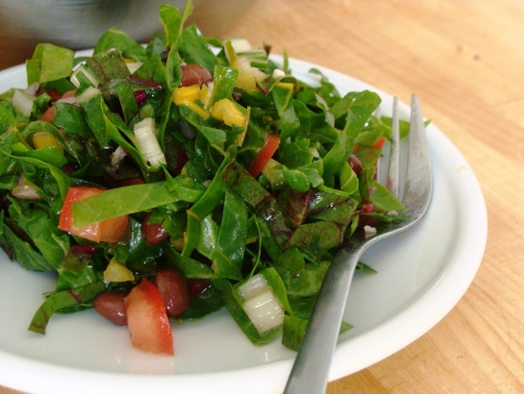 Chard_black bean_salad