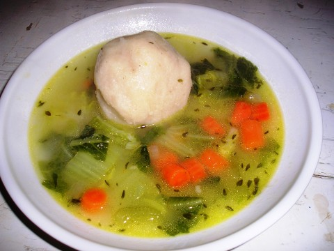 Country Cabbage Soup with Cornmeal Dumplings