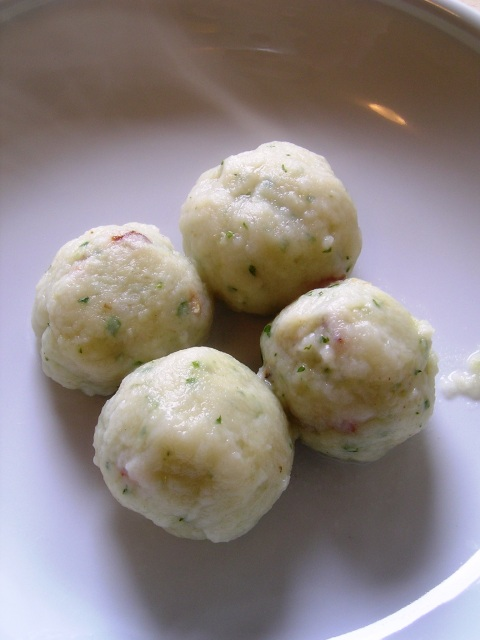 Potato Dumplings with Crouton Centers