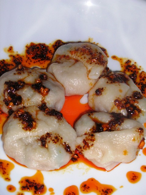 Wontons with Red Chili Oil